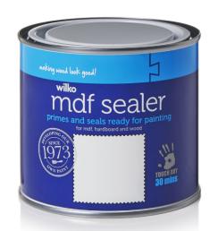 Wilko quickdry MDF sealer
